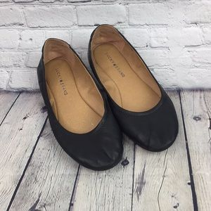Lucky Brand Leather Ballet Flats Black Size 9m